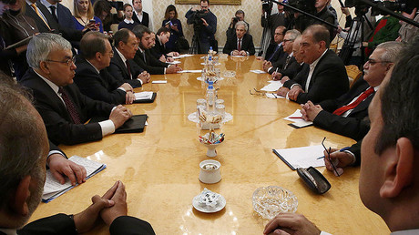 Russian Foreign Minister Sergei Lavrov meets with Syrian opposition representatives in Moscow, Russia January 27, 2017. © Sergei Karpukhin