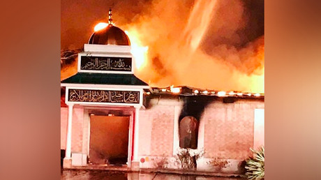 Berlin mosque erupts in flames after suspected arson attack
