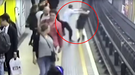 English football fan jailed for pushing Pole he mistook for Russian onto train tracks (VIDEO)