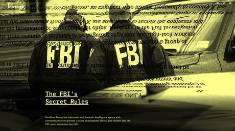 Screenshot of The Intercept's investigation, 'The FBI's Secret Rules'