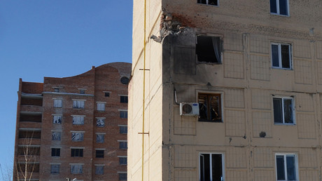 01/31/2017 An apartment block on Listoprokatchikov Street in Kuibyshevsky district of Donetsk was damaged in a shelling by the Ukrainian army. © Mikhail Parhomenko