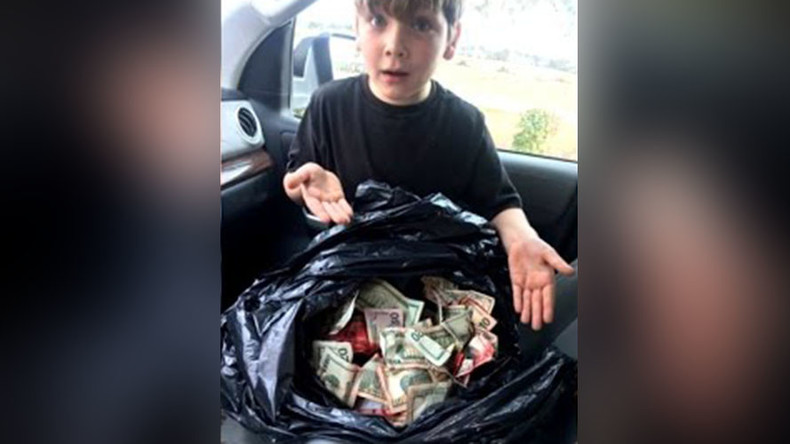 'Surreal moment': 7yo finds bank robber's stash in South Carolina