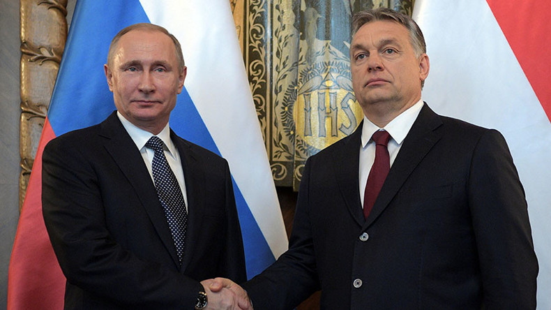 Putin visits PM Orban to talk business with Euroskeptic Hungary