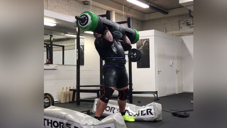 'Game of Thrones' strongman gets pumped in explosive 455lb log lift