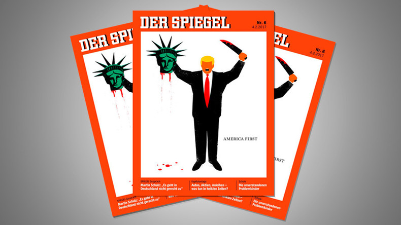 Trump 'beheads' Lady Liberty in controversial Der Spiegel magazine cover