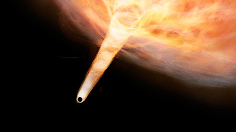 Black hole & 'the Bullet': Key to mystery of Milky Way's speeding space cloud (IMAGE)