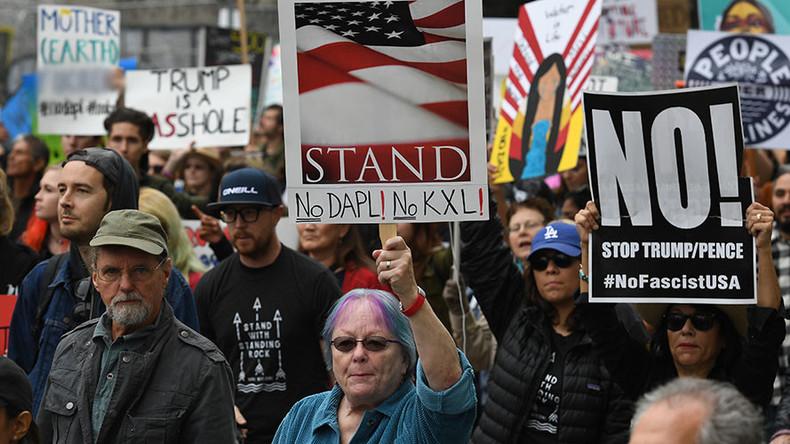 Thousands attend LA protest over Trump's DAPL & Keystone XL executive orders (VIDEOS, PHOTOS)