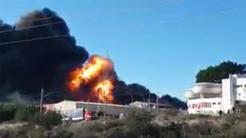 Huge blast rocks chemical plant in Valencia, Spain (VIDEO)