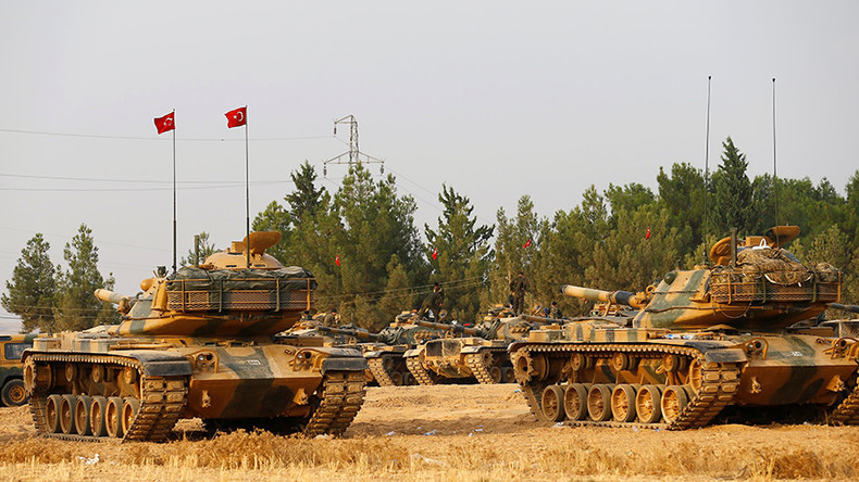 Turkish troops enter ISIS-held Syrian town, Erdogan says army will continue on to Raqqa