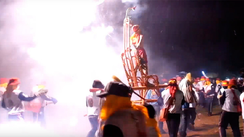 'God of war & wealth' bombed with fireworks in shocking Taiwanese ritual (VIDEO)