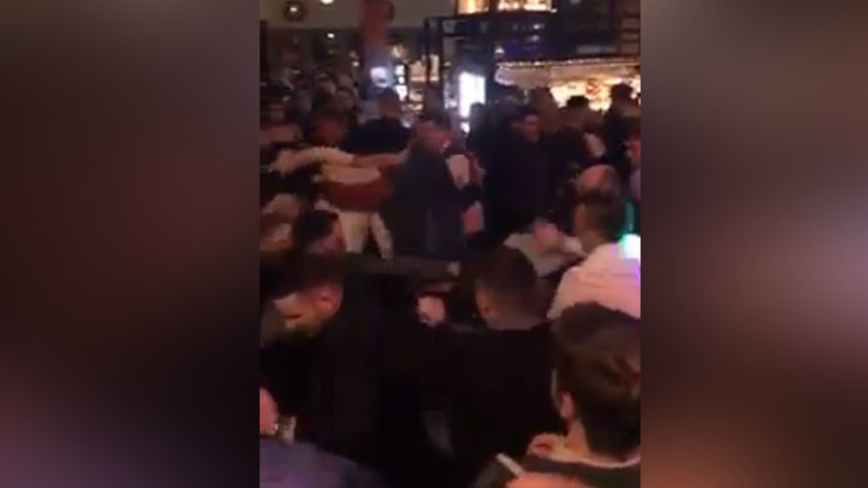 Mass bar brawl involving 100 people caught on camera (VIDEO)