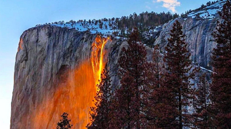 Yosemite 'firefall' illuminates waterfall to glow like lava (PHOTOS, VIDEOS)
