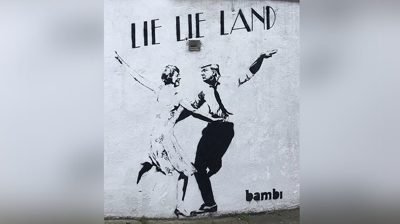 'Lie-Lie Land': Trump, Theresa trolled in viral UK street art (PHOTO)