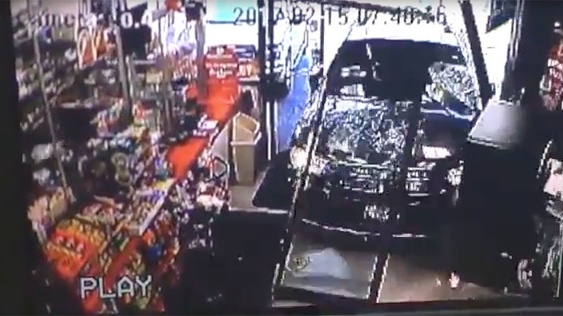 Driverless SUV smashes through shop entrance, knocks down child (VIDEO)