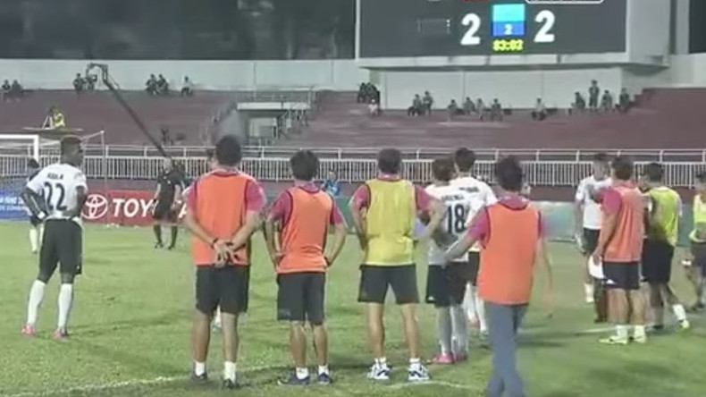 Vietnamese football team refuses to play in protest at controversial late penalty