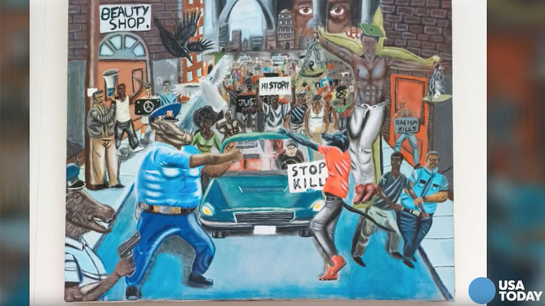 Congressman sues over removal of cops-as-pigs painting from US Capitol