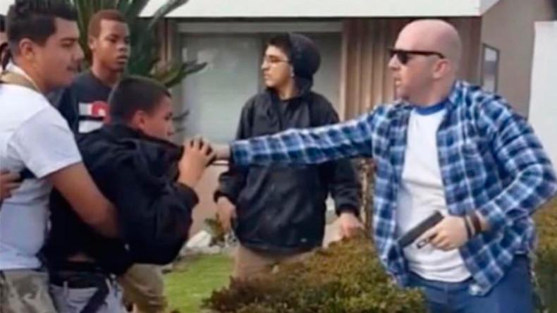 Video of cop firing gun in dispute with teens sparks LA protests & 24 arrests (VIDEO)