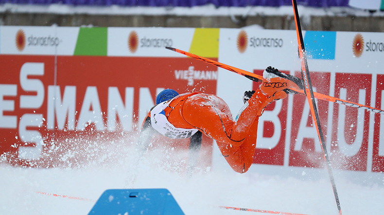 Is this the world's worst-ever competitive skier? (VIDEO)