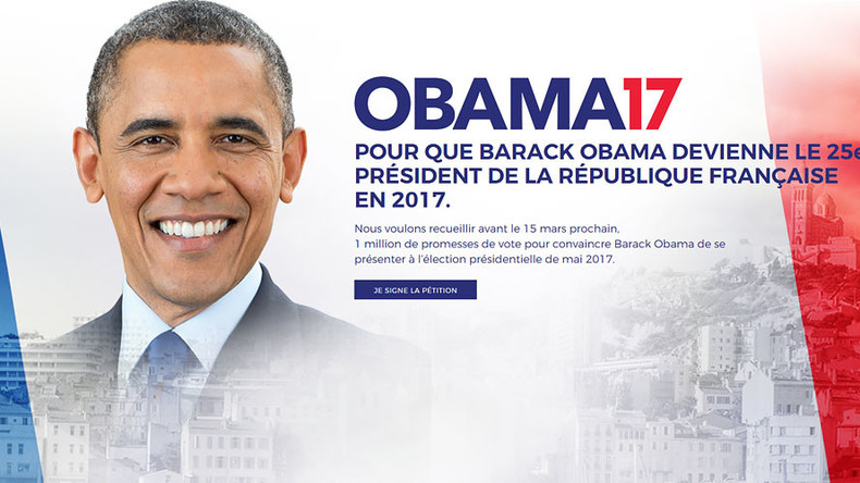 Yes we can? Petition launched for Obama 2017 French presidential campaign