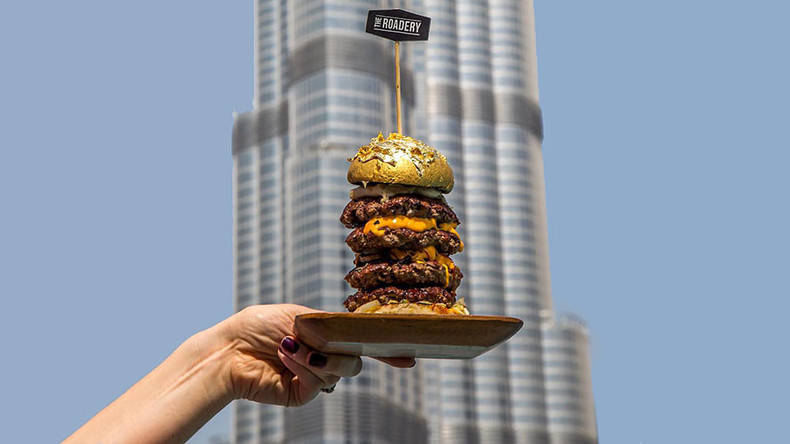 'The Burg-Khalifa': A $63 gold-laced burger inspired by Dubai skyscraper (VIDEO)