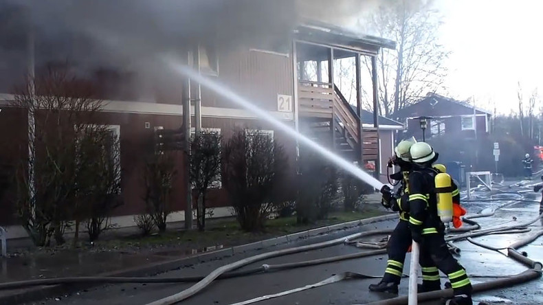 2 refugee centers in Germany go up in flames, 1 suspected arson (VIDEO)