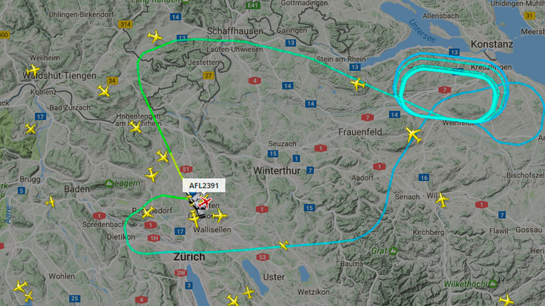 Aeroflot flight to Moscow lands in Zurich after returning due to reported engine issues