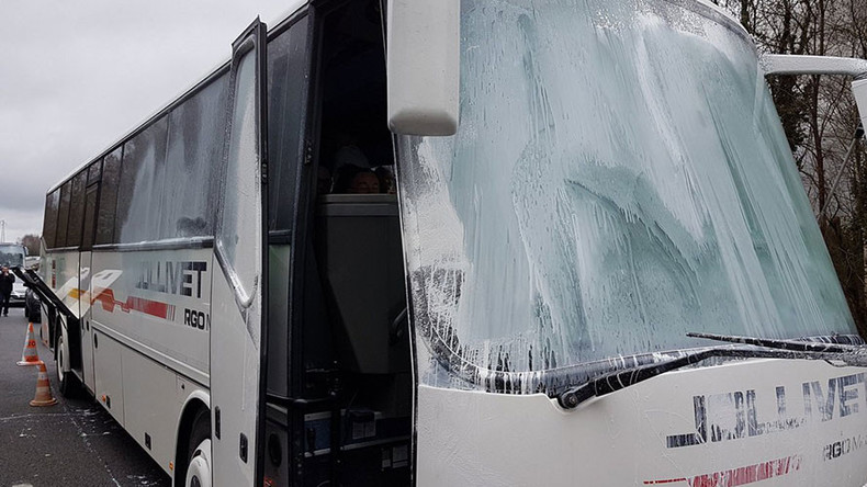 French National Front convoy attacked on way to rally (VIDEO, PHOTOS)