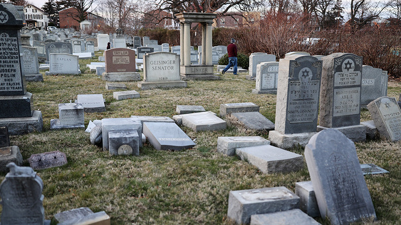 Vandals topple scores of headstones at Jewish cemetery in Philadelphia (VIDEO)