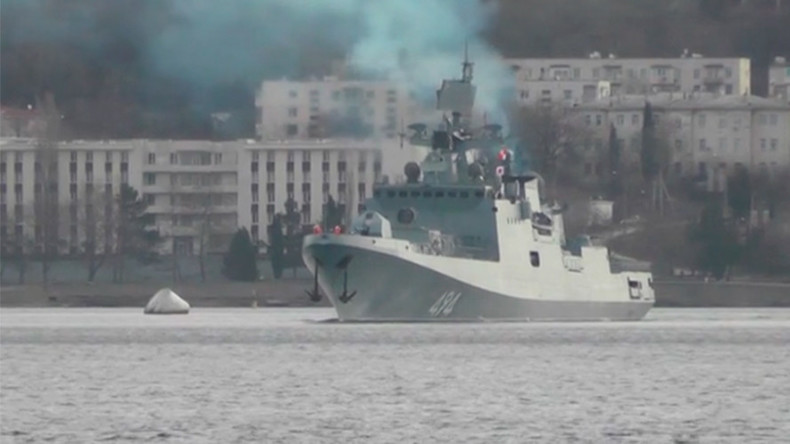 Russian frigate heads to Mediterranean, reportedly bound for Syria