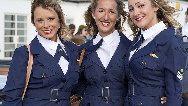 Royal Air Force women banned from wearing skirts on parade to attract transgender recruits