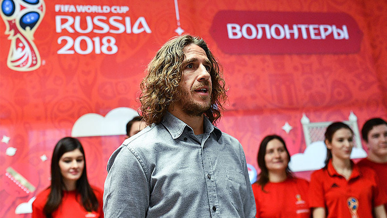 FC Barcelona & Spain legend Puyol interviews prospective World Cup volunteers in Moscow