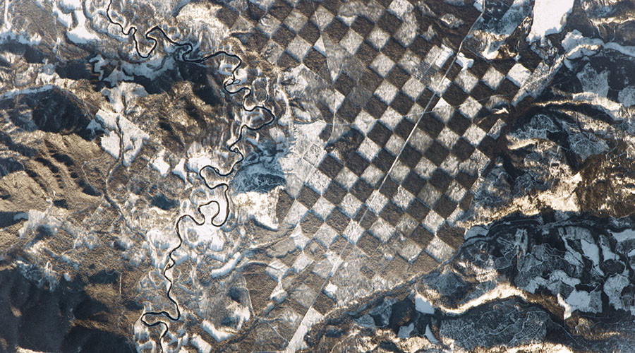 Stunning space station image captures Earth's natural 'checkerboard'