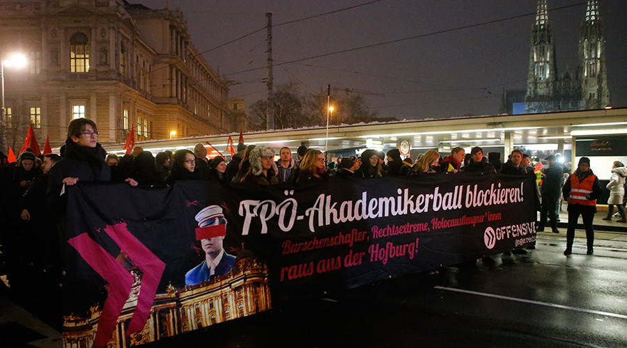 Thousands march in Vienna against annual 'far-right' ball (PHOTOS, VIDEOS)
