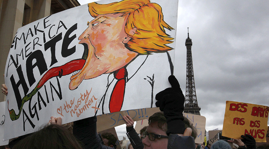 #NoBanNoWall: Anti-Trump protests continue throughout Europe & US