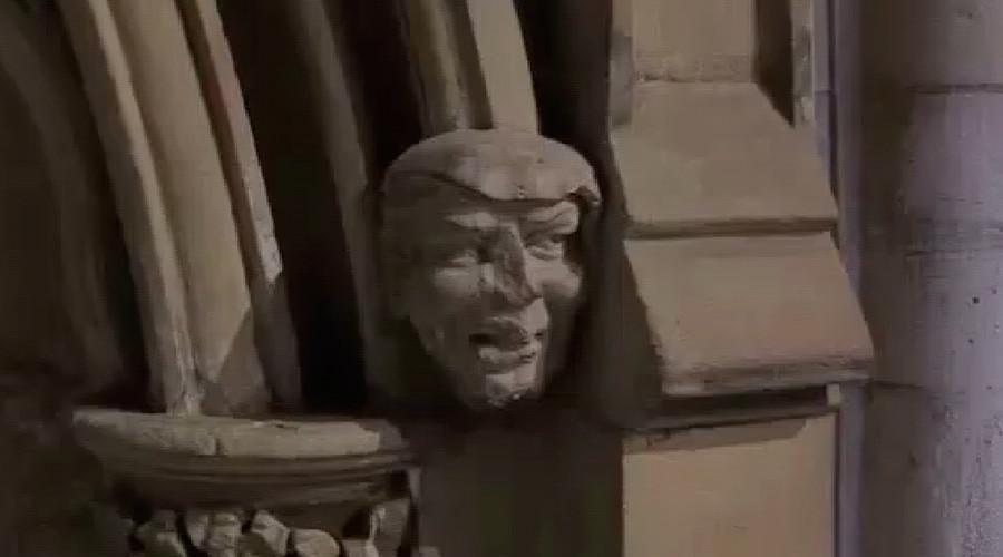 Donald's doppleganger: 700yo gargoyle bears striking resemblance to Trump (VIDEO)