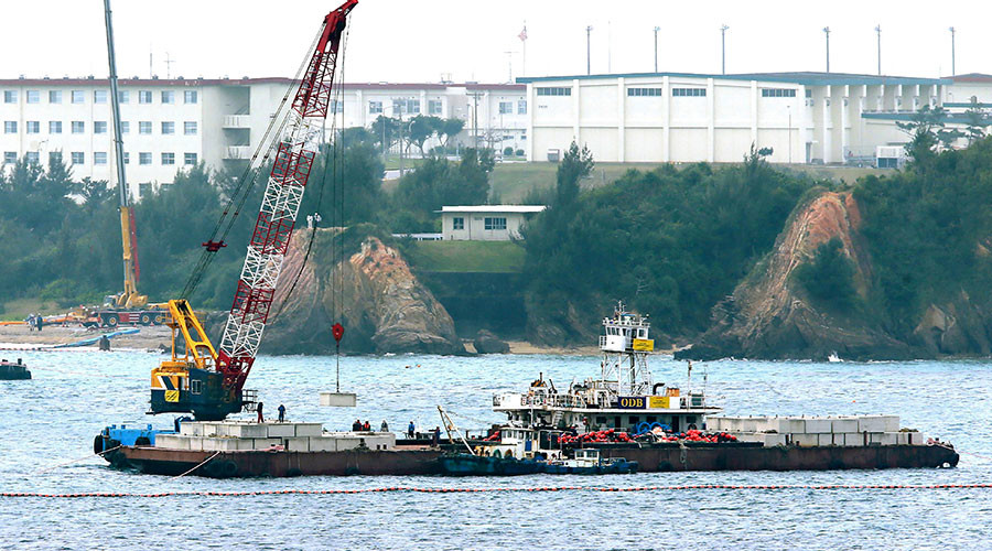 Japan ignores protests, begins offshore construction work on moving US base in Okinawa