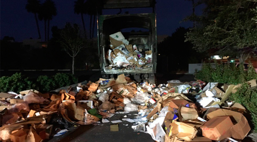 Cardboard saves homeless man from near death in garbage truck
