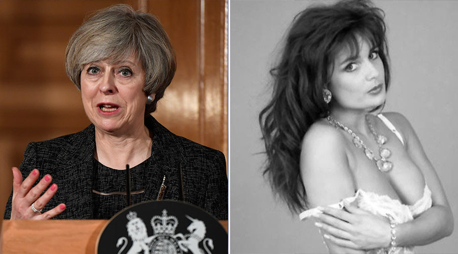Theresa May 'used porn star to liven up her image... & chatted over coffee'