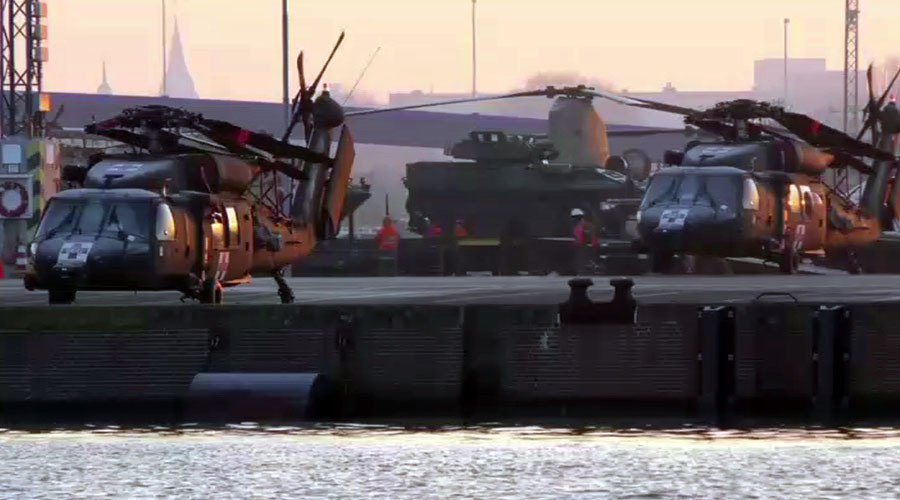 US military helicopters arrive in Germany amid NATO buildup in E. Europe (VIDEOS)