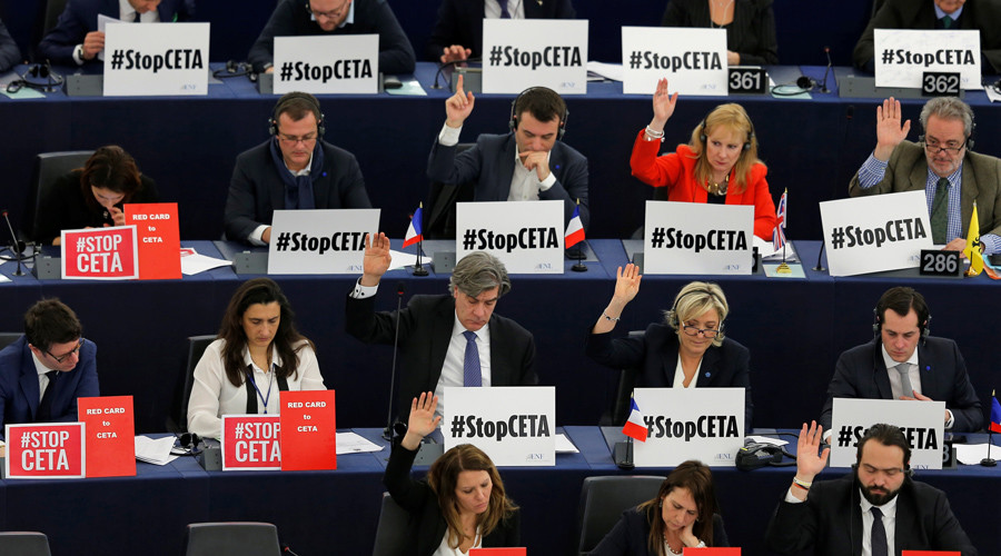 EU approves contentious free trade pact with Canada despite protests (VIDEO)