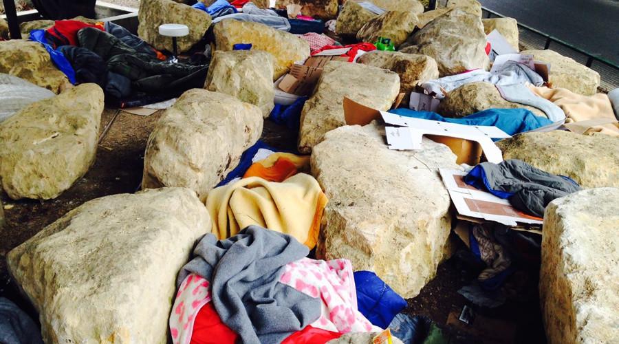 Paris installs boulders under bridge to prevent makeshift migrant camps – activists