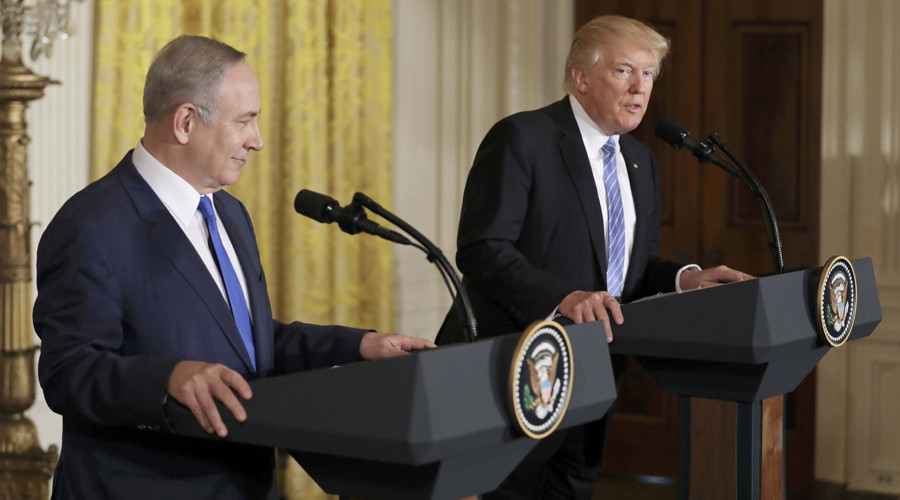 Trump asks Netanyahu to hold off on settlements, avoids endorsing two-state solution