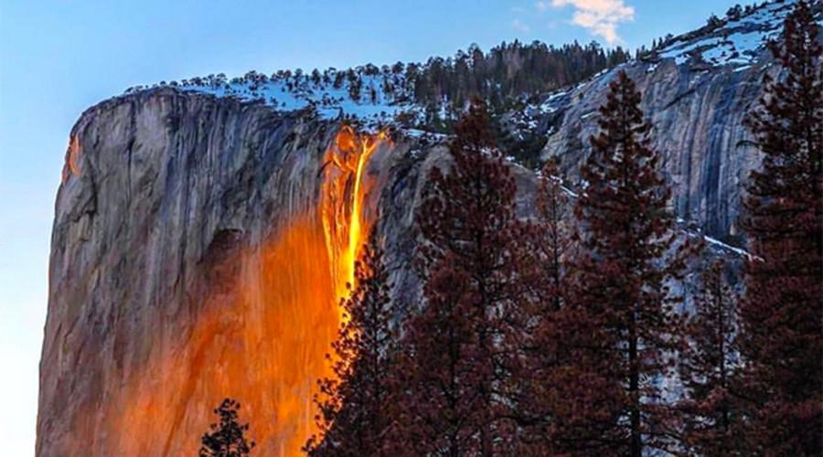 Yosemite 'firefall' illuminates waterfall to glow like lava (PHOTOS, VIDEOS)