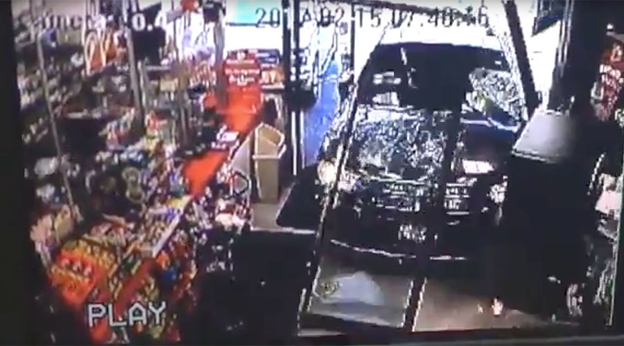 Driverless SUV smashes through shop entrance, knocks down child (VIDEO)