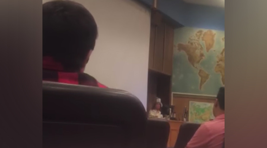 Student suspended after filming professor who called Trump's election 'an act of terrorism'