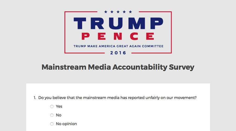 Trump's 'fake news media' accountability survey gets trolled & ridiculed