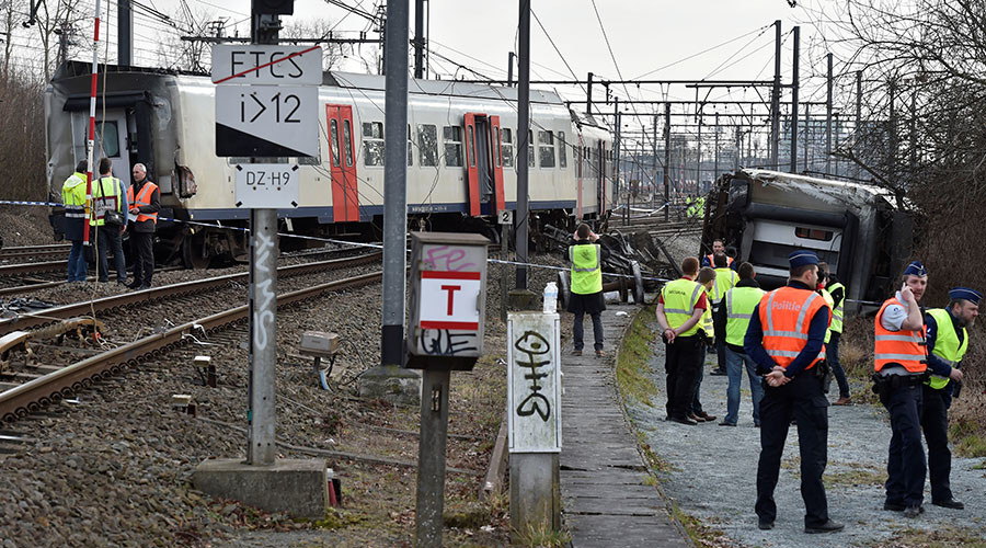 One person dead, up to 25 injured in train derailment in Belgium