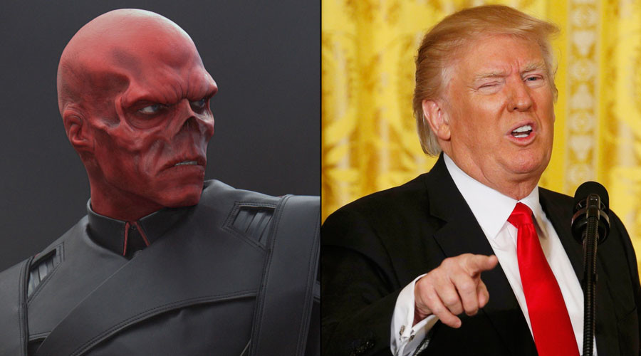 Red Skull or Trump? Trolling Twitter account recasts POTUS as supervillain
