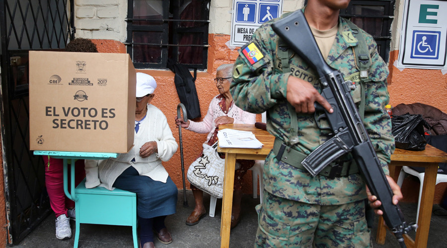Moreno beating Lasso in 1st round of Ecuador's presidential election