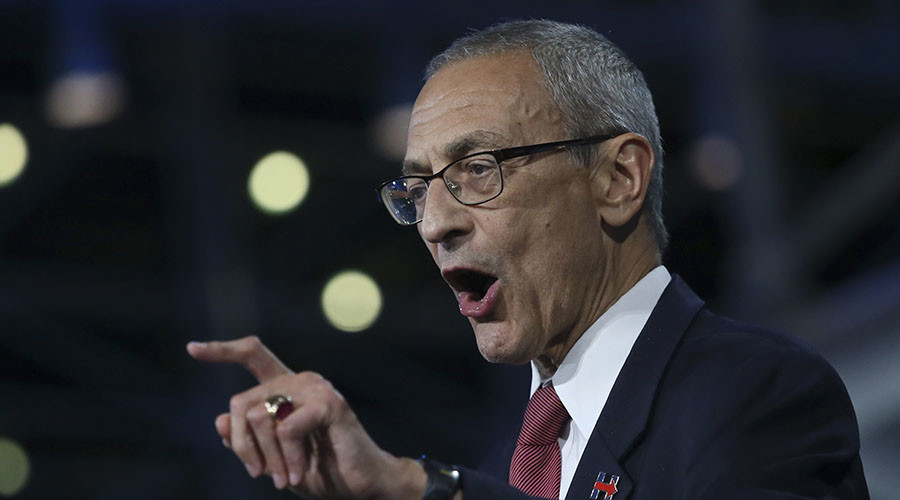 Clinton chair John Podesta claims FBI helped Trump beat Hillary (VIDEO)